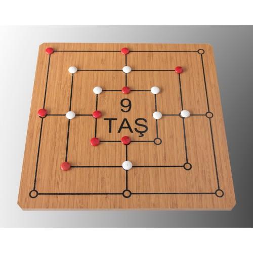 9 Taş & 3 Taş (1 Kutu 2 Oyun)