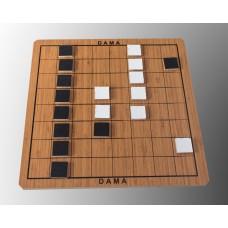 Dama, Çapraz Dama, Çin Daması -1 Kutu 3 Oyun- (Kaliteli Ahşap)