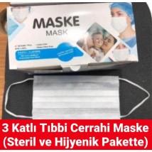 3 Katlı Tıbbi Cerrahi Maske (Steril)